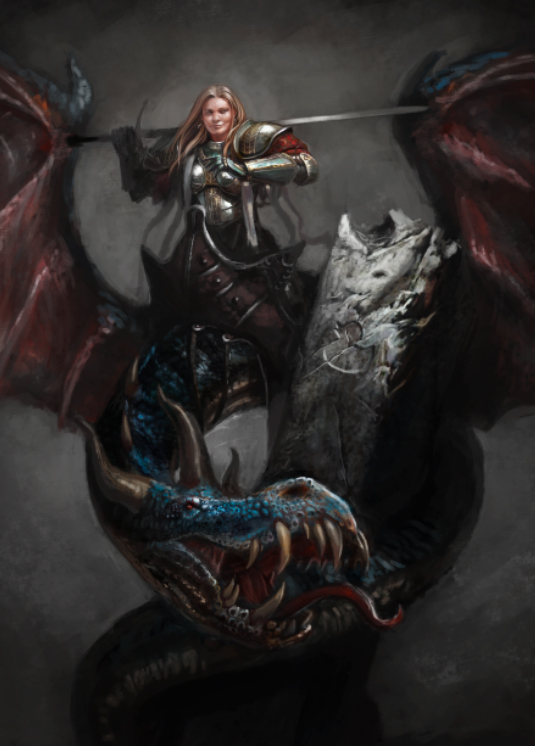 Paint Her Riding a Dragon
